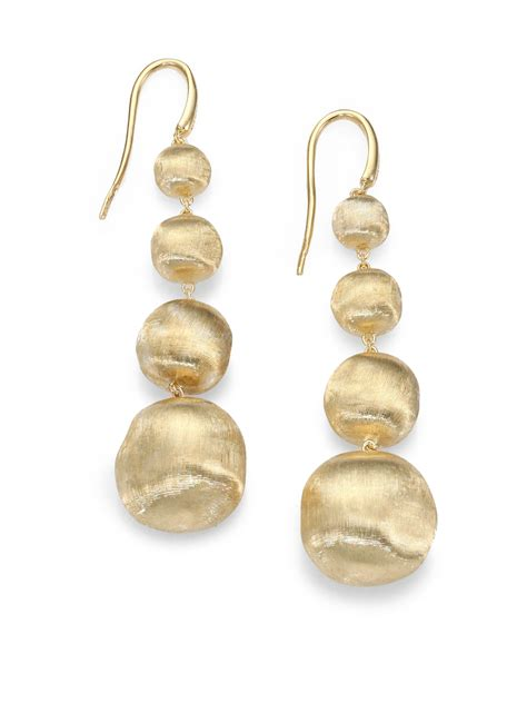 marco bicego africa 18k yellow gold graduated ball drop