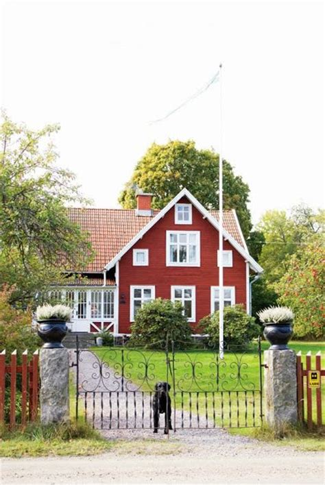 swedish country classic swedish red and white country house scandinavian