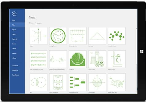 learning visio new education category in visio pro for office 365