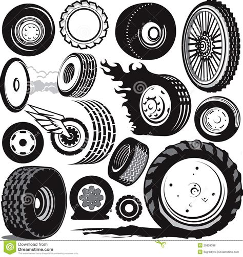 tire collection royalty  stock  image