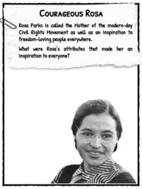 rosa parks biography for students rosa parks facts worksheets information biography for kids