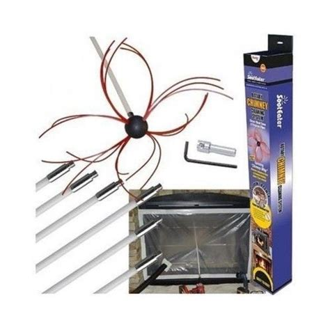 Chimney Flue Repair Kit - chimney cleaning kit flue soot eater wood stove fireplace