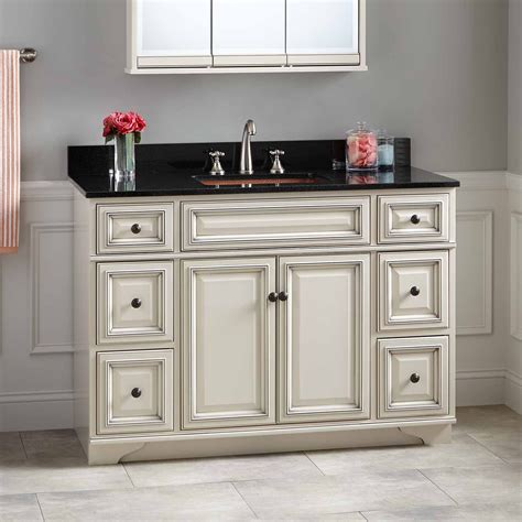 sinks and cabinets for bathrooms 48 quot misschon vanity for rectangular undermount sink