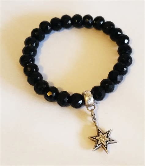 black bead sabo charm club black bead bracelet