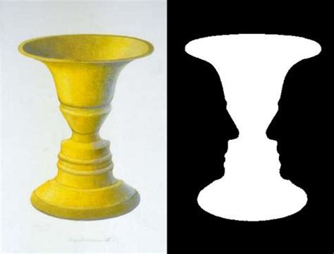 Vase Illusion by Optical Illusions Rubin Vase Illusion