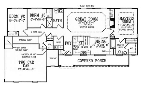 split floor plans split bedroom ranch is fully accessible 3863ja 1st floor master suite cad available corner