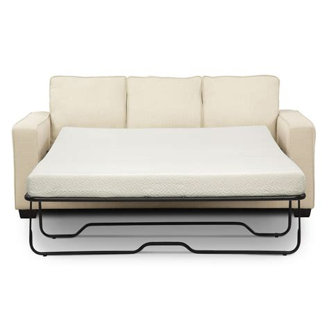 Sterling Memory Foam Sleeper Sofa With Chaise Beige Foam Sleeper Sofa
