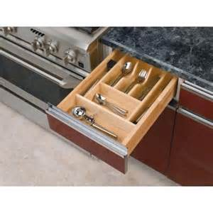 rev a shelf small wood cabinet drawer cutlery tray insert
