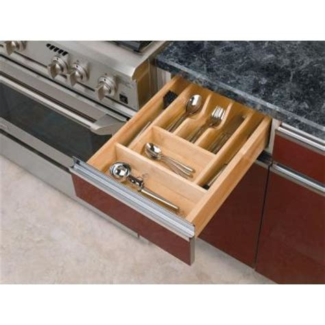 Small Cutlery Trays For Drawers by Rev A Shelf Small Wood Cabinet Drawer Cutlery Tray Insert