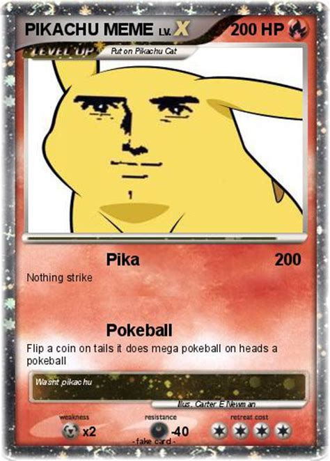 Pokemon Card Memes - pok 233 mon pikachu meme pika my pokemon card