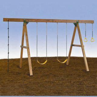 vintage swing set j e burke vintage horse glider swing set ride cast