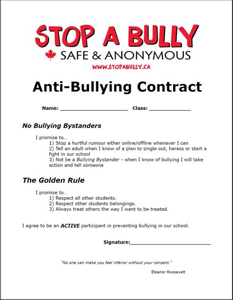 ten tips to prevent cyberbullying the anti bully blog anti bullying contract printable the anti bully blog