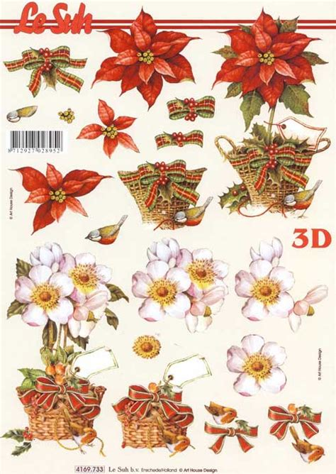 Free Printable 3d Decoupage Sheets - flower bouquets 3d decoupage sheet