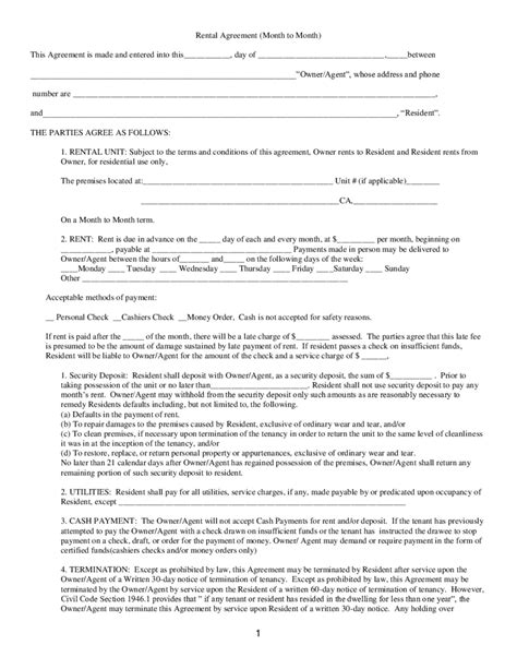 Ground Rent Letter Rental Agreement Free Rental Lease Agreement Form