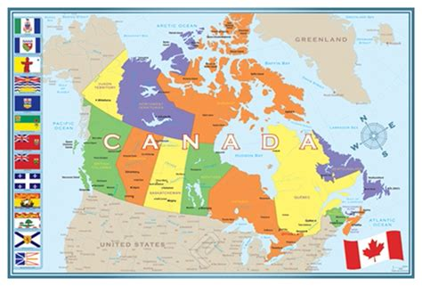 H M Canada Gift Card - modern map of canada giclee print on arch paper at eurographics
