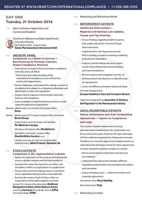 Takeda Pharmaceuticals Mba Program by International Pharmaceutical Compliance Congress Brochure