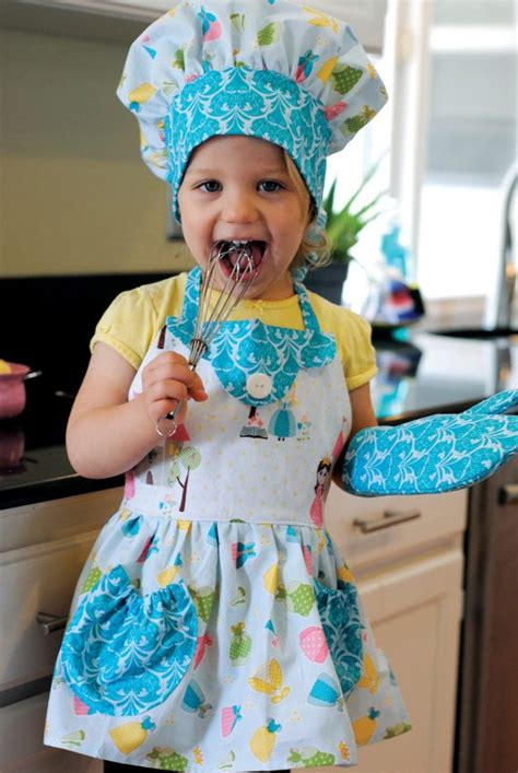 Costume Setpretend To Playdress Up Cook apron chef hat oven mitt cooking princess