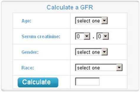 calculator gfr glomerular filtration rate gfr calculator davita