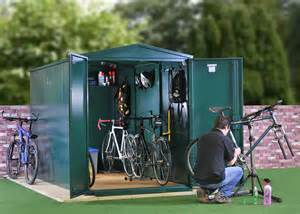 metal bike storage secure bike shed storage from asgard