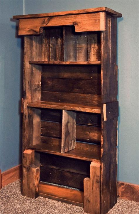 Diy Bookshelf Plans Wooden Pallet Bookshelf Diy Pallet Furniture Plans