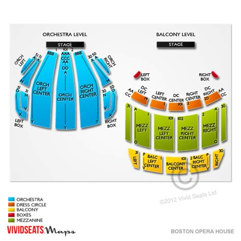 Boston Opera House Tickets Boston Opera House Boston Opera House Seating Plan