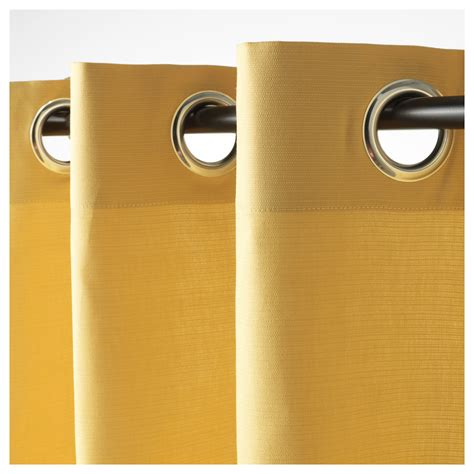 ikea mariam curtains mariam curtains 1 pair yellow 145x250 cm ikea