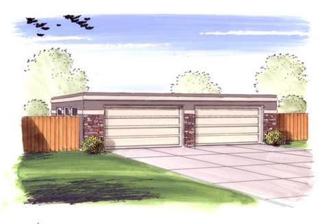 car garage  flat roof  menards house