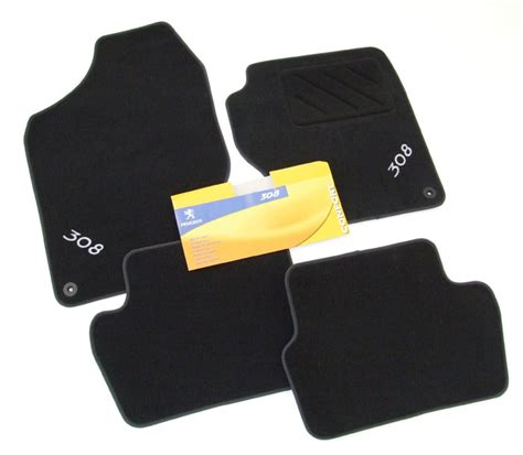 peugeot 308 mats peugeot 308 velour carpet mat set black hatch and sw 1 6