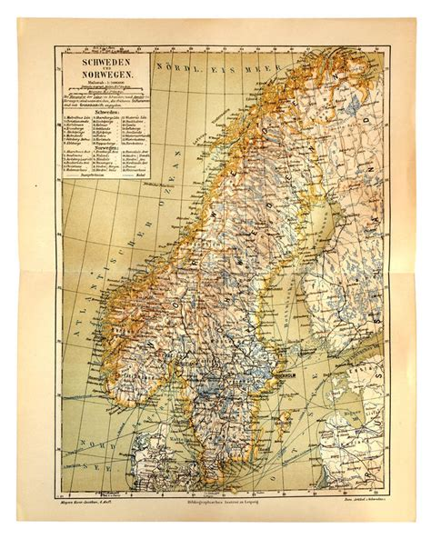 alte karte schweden und norwegen redaktionelles bild bild richtung gemasert 48787905