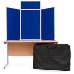 3 panel portrait table top display boards folding