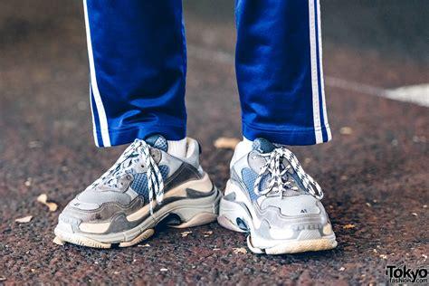 adidas balenciaga harajuku guy in sporty menswear street style w comme des