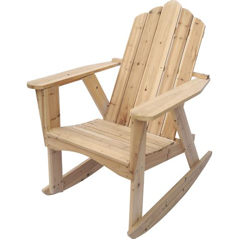 Stonegate Designs Wooden Adirondack Rocking Chair Unfinished Adirondack Patio Chair