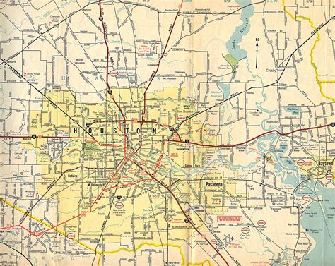 road map of houston maps houston past