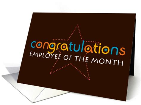 Pictures Of Christmas Party Invitations - congratulations employee of the month card 916304