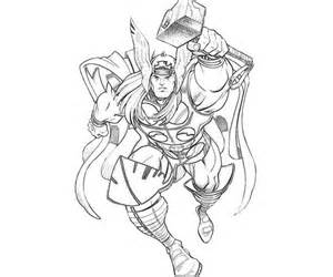 14 kids coloring pages thor print color craft