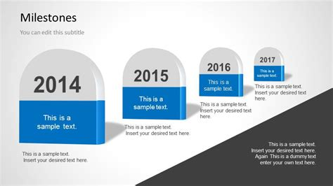 powerpoint milestone template milestones template for powerpoint slidemodel