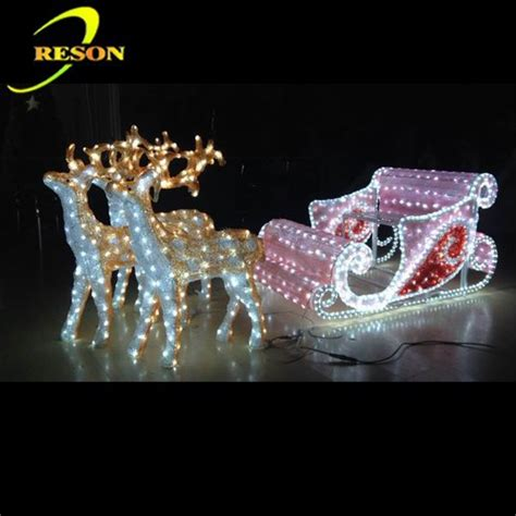 led decorations outdoor decoration led lighting outdoor sleigh