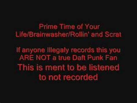 daft punk prime time of your life prime time of your life brainwasher rollin and