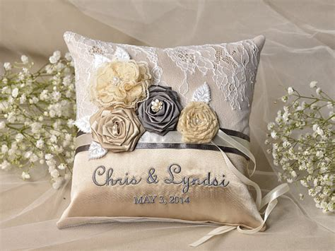 Wedding Rings Pillow by Wedding Ring Pillow Ring Bearer Pillow Lace Ring Pillow
