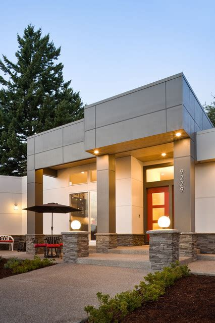 modern house front yamane residence contemporary entry portland by alan mascord design associates inc