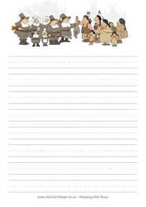 thanksgiving paper template pilgrim writing paper