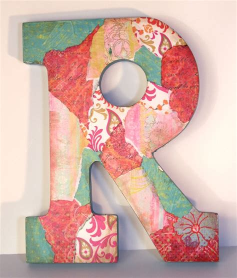 decoupage letters decoupage letters get crafty