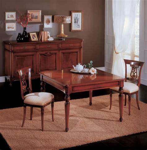 tavoli da pranzo classici tavolo da pranzo allungabile in legno in stile classico