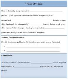 proposal template for training template of training