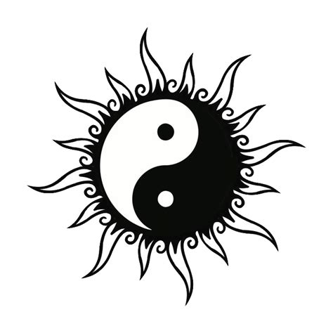 sun moon yin yang tattoo designs sun and moon together drawings search
