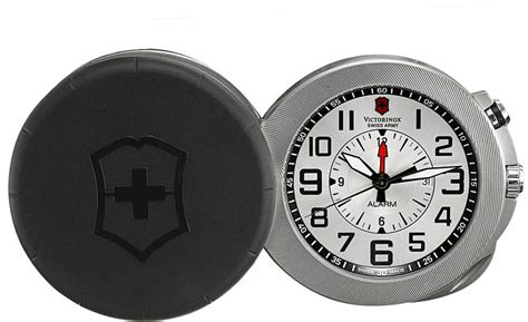 Swiss Army Date Silver swiss army 241461 mens travel alarm 1884 limited
