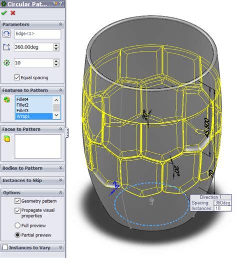 solidworks fill pattern beer mug tutorial solidworks insight