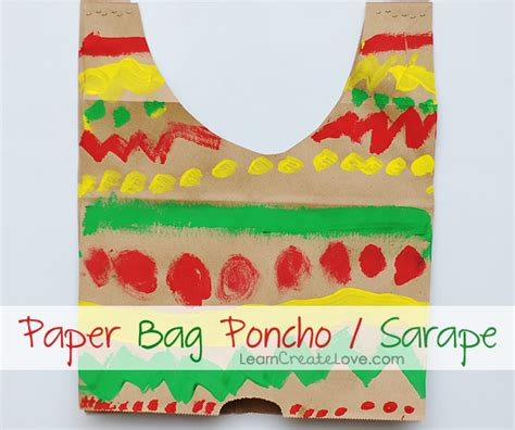 mexican paper crafts mexican sarape poncho craft