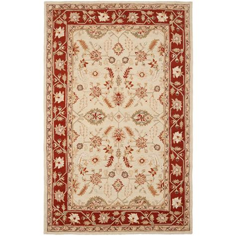 9 X 11 Area Rugs Safavieh Chelsea Ivory Rust 8 Ft 9 In X 11 Ft 9 In Area Rug Hk719a 9 The Home Depot