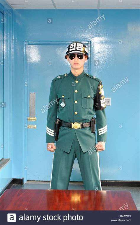Door Guard Korea Putih a south korean soldier guards the door to korea in an uno stock photo royalty free image